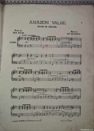 First page of Amazon Valse by H Sharples & Son (London) Ltd