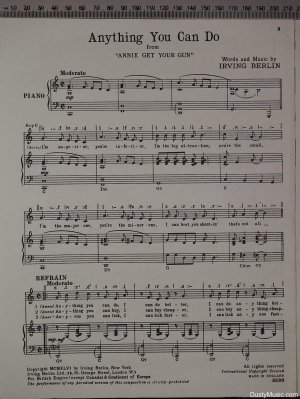 First page of Anything you can do by Irving Berlin
