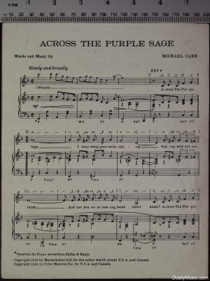 First page of Across the purple sage by Macmelodies
