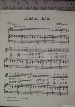 First page of Alistair John by Mozart Allan
