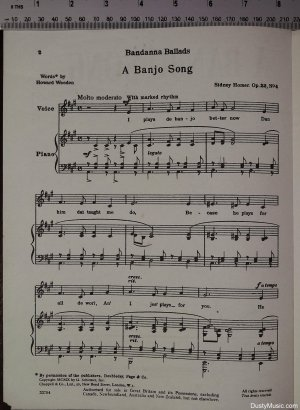 First page of A banjo song by Chappell