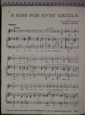 First page of A kiss for every candle by John Fields