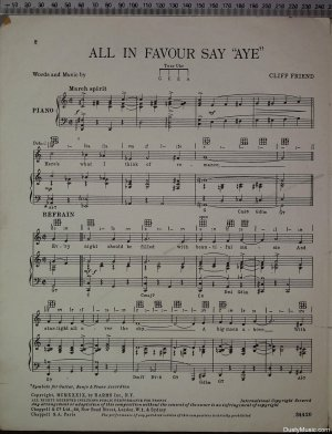 First page of All in favour say aye by Chappell
