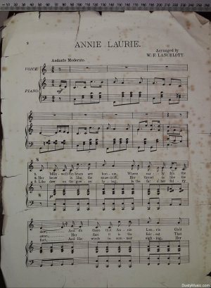 First page of Annie Laurie by Pitman Hart