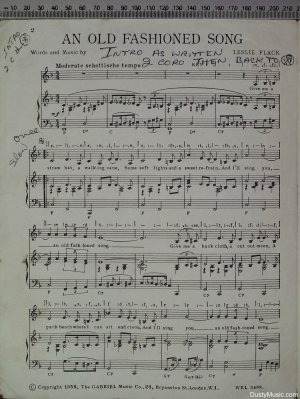 First page of An old fashioned song by Gabriel