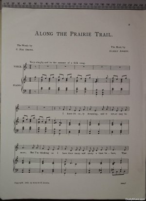 First page of Along the prairie trail by Schott & Co