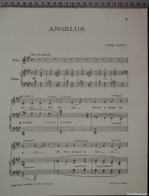 First page of Angelus by Elkin & Co