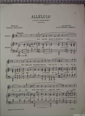 First page of Alleluia by Boosey & Co