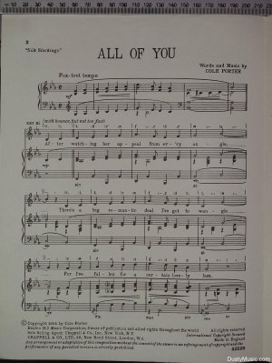 First page of All of you by Chappell