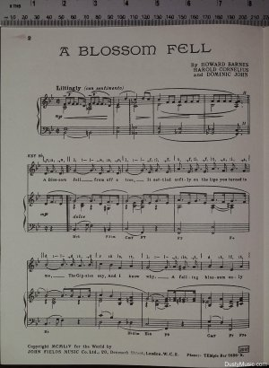 First page of A blossom fell by John Fields