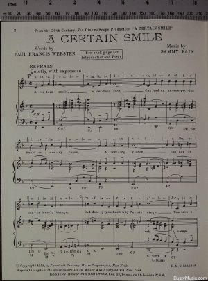 First page of A certain smile by Francis Day & Hunter