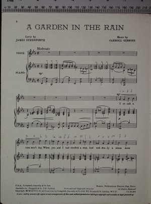 First page of A garden in the rain by Campbell Connelly