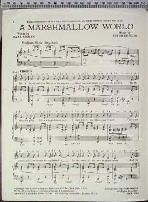 First page of A marshmallow world by Kassner