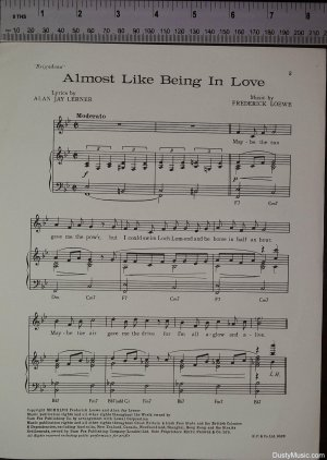 First page of Almost like being in love by Sam Fox