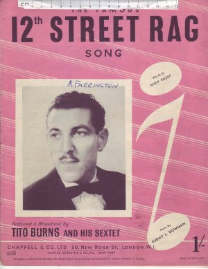 Twelth Street rag - Old Sheet Music by Chappell