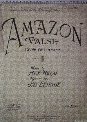 Amazon Valse - Old Sheet Music by H Sharples & Son (London) Ltd