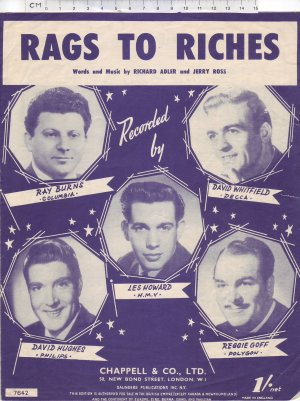 Rags to riches - Old Sheet Music by Chappell