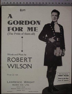 A Gordon for me - Old Sheet Music by Lawrence Wright