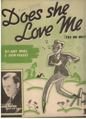 Does she love me - Old Sheet Music by Cinephonic Music Co Ltd