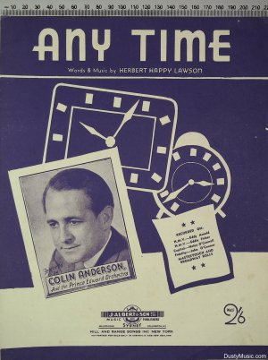 Any Time - Old Sheet Music by J Albert & Son Pty Ltd