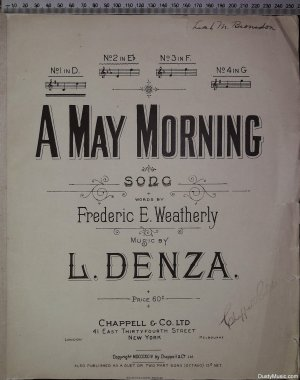 A May morning - Old Sheet Music by Chappell