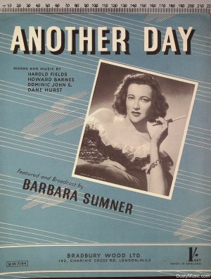 Another day - Old Sheet Music by Bradbury Wood Ltd