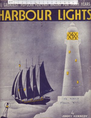 Harbour lights - Old Sheet Music by Chappell