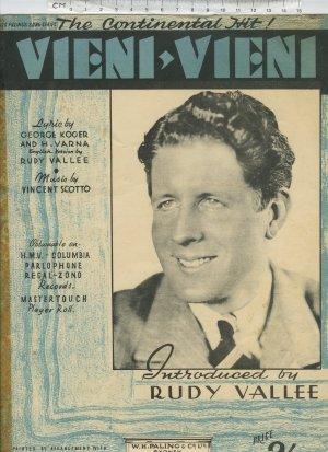Viene viene - Old Sheet Music by W H Paling & Co Ltd