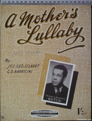 A mother's lullaby - Old Sheet Music by Irwin Dash Music CoLtd
