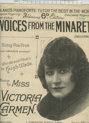 Voices from the minaret - Old Sheet Music by Feldman
