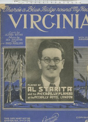 Virginia - Old Sheet Music by Lawrence Wright