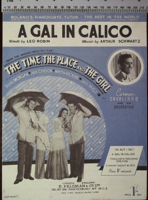 A gal in calico - Old Sheet Music by Feldman