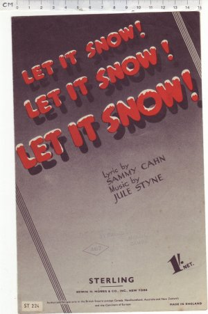 Let it snow let it snow let it snow - Old Sheet Music by Sterling