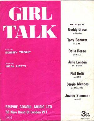 Girl talk - Old Sheet Music by Empire Consul Music Ltd
