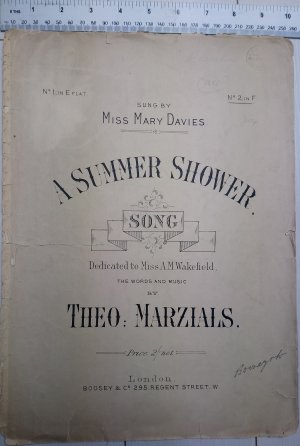 A summer Shower - Old Sheet Music by Boosey & Co