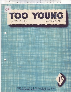 Too young - Old Sheet Music by Sun
