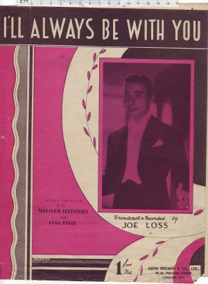I'll always be with you - Old Sheet Music by Keith Prowse & Co Ltd