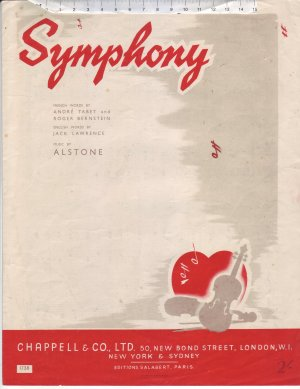 Symphony - Old Sheet Music by Chappell