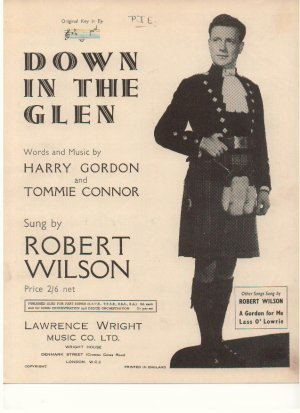 Down in the glen - Old Sheet Music by Lawrence Wright