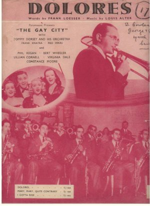 Dolores - Old Sheet Music by The Victoria Music Publishing Co Ltd