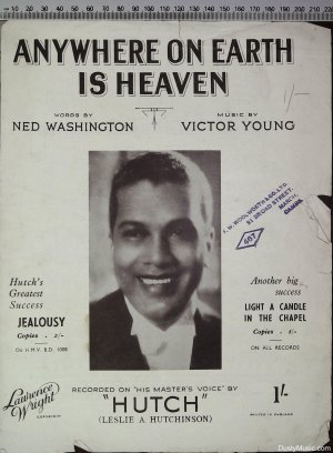 Anywhere on earth is heaven - Old Sheet Music by Lawrence Wright
