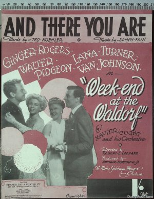 And there you are - Old Sheet Music by Francis Day & Hunter Ltd