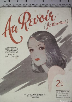 Au revoir - Old Sheet Music by Francis Day & Hunter Ltd