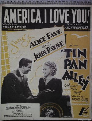 America I love you - Old Sheet Music by Francis Day & Hunter Ltd