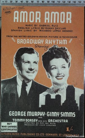 Amor Amor - Old Sheet Music by Southern Music Publishing Co Ltd
