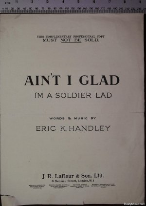Ain't I glad - Old Sheet Music by J R Lafleur & Son Ltd