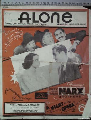 Alone - Old Sheet Music by Francis Day & Hunter Ltd