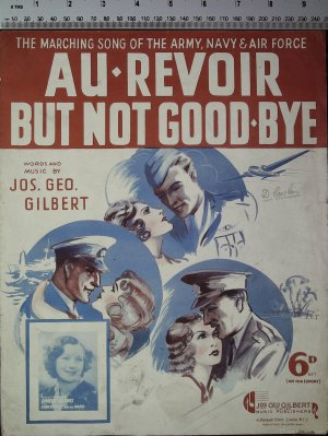 Au revoir but not goodbye - Old Sheet Music by Jos Geo Gilbert Ltd