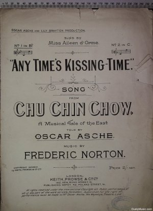 Any time's kissing time - Old Sheet Music by Keith Prowse & Co Ltd