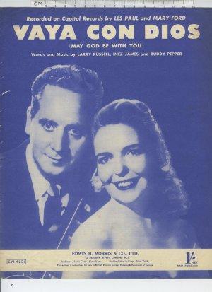 Vaya con Dios - Old Sheet Music by Edwin H Morris & Co Ltd